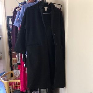 H&M long coat (black)